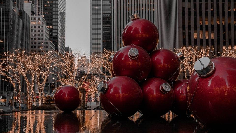 New York christmas decoration